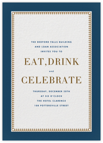 Bold Line - Blue - The Indigo Bunting - Ticketed Event Invitations