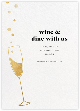 Champagne Bubbles - Paperless Post - Business event invitations