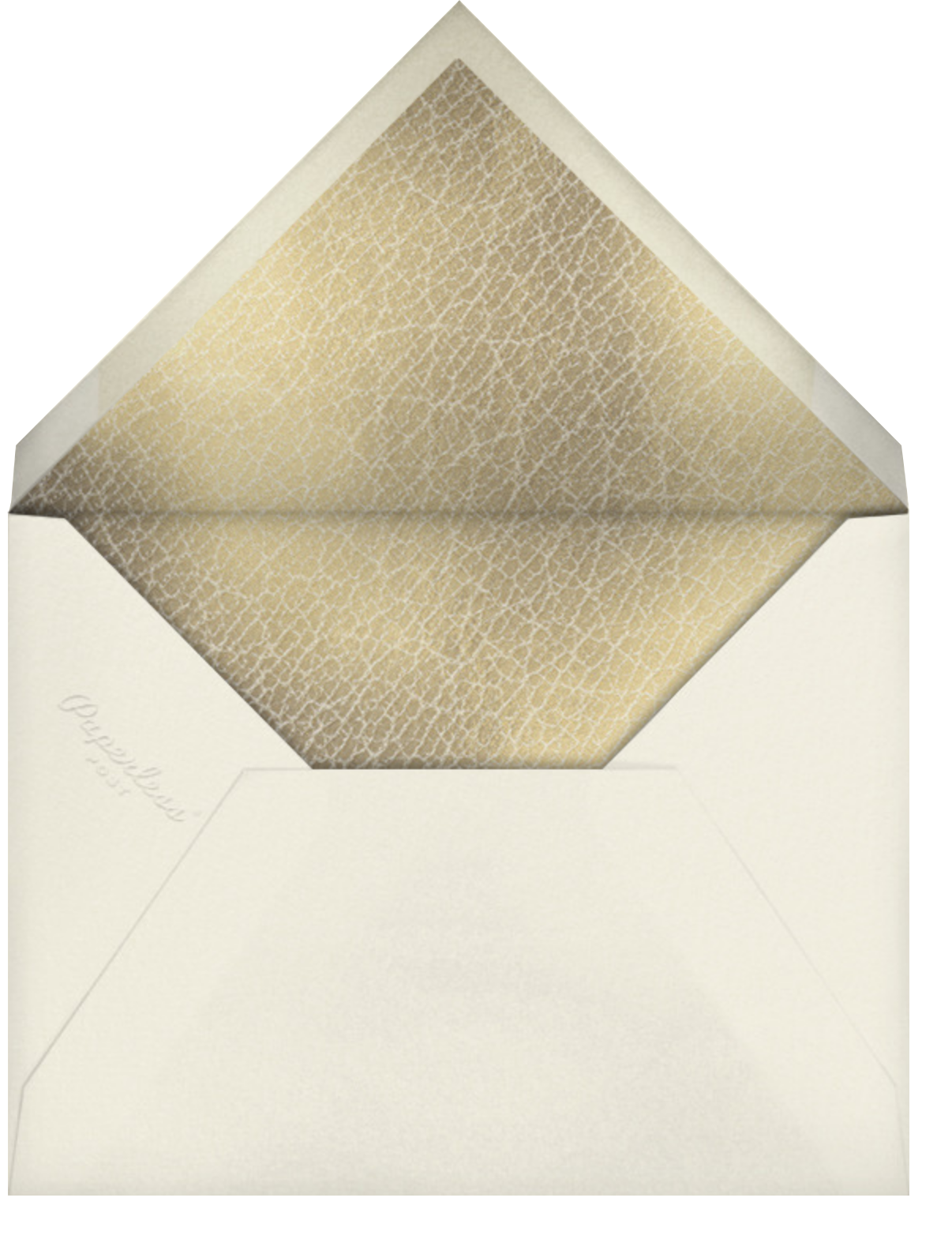 Gold Line  - Paperless Post - Engagement party - envelope back
