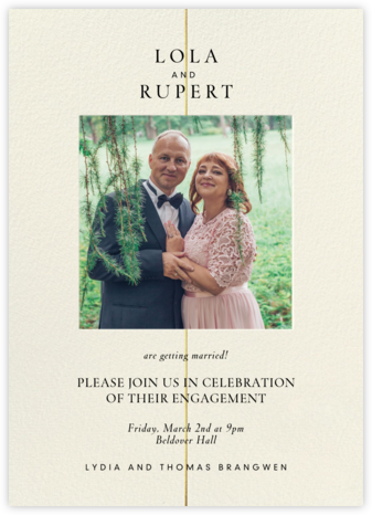 Gold Line  - Paperless Post - Engagement party invitations
