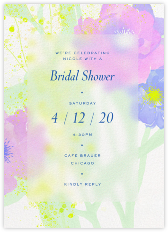 Abstract Bouquet  - Paperless Post - Bridal shower invitations
