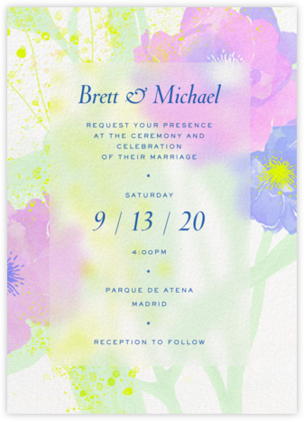 Abstract Bouquet (Invitation) - Paperless Post - Wedding Invitations