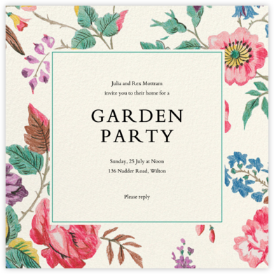 Millie - Liberty - Summer entertaining invitations