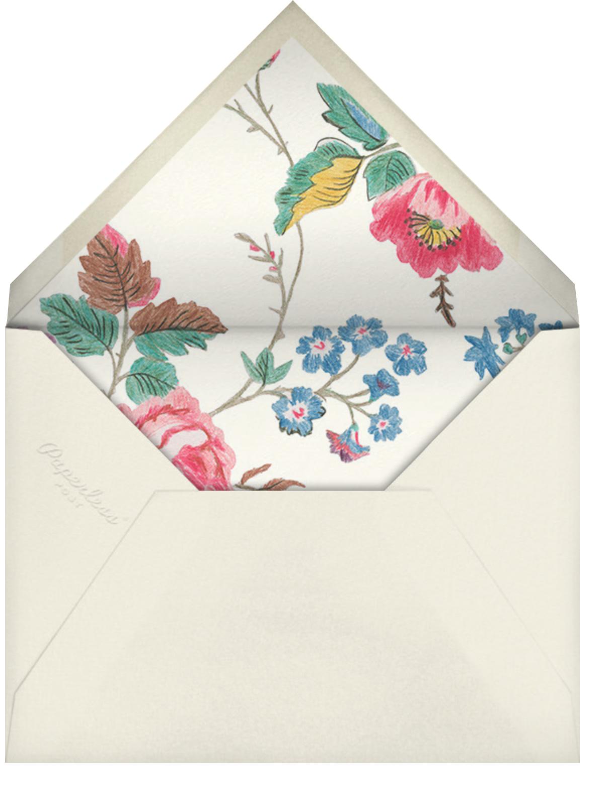 Millie - Liberty - Bridal shower - envelope back