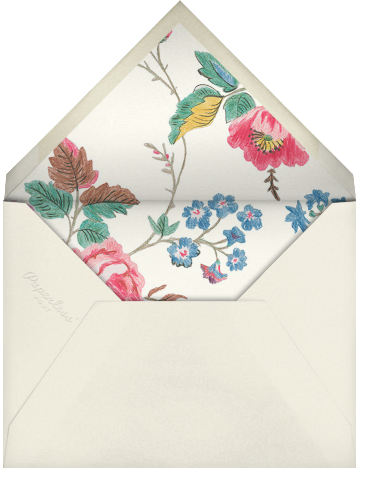 Millie  - Liberty - Anniversary party - envelope back