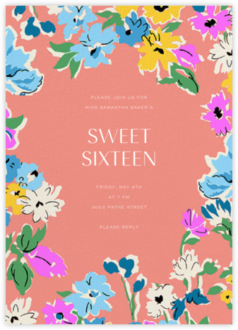 Esme - Liberty - Sweet 16 invitations