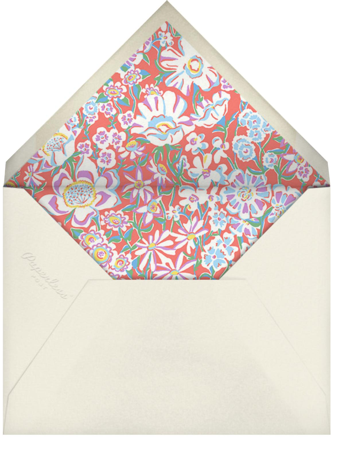 Annabel - Liberty - Bridal shower - envelope back