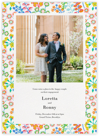 Georgiana - Liberty - Engagement party invitations