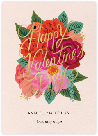 Perennial Valentine - Rifle Paper Co. - Valentine's Day Cards