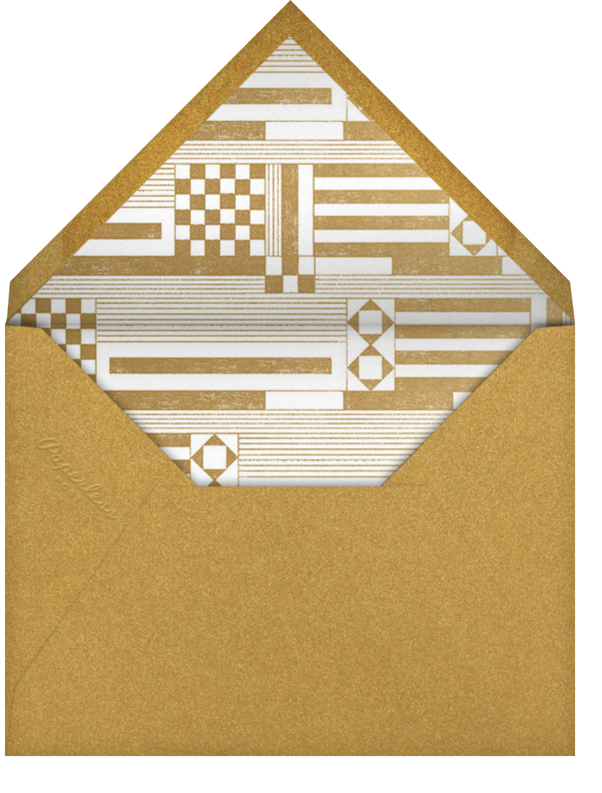 Deco Asymmetry - Gold (Invitation) - Paperless Post - All - envelope back