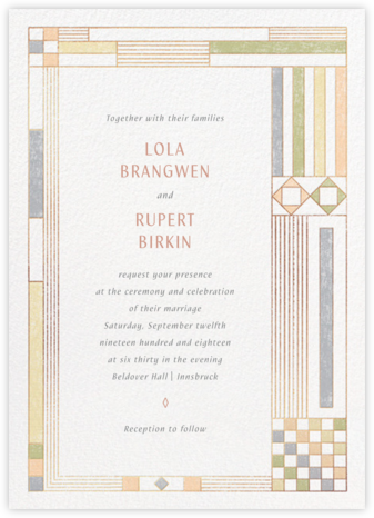 Deco Asymmetry - Pastel (Invitation) - Paperless Post - Wedding Invitations