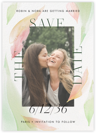 Fresh Leaves - Pavlova - Paperless Post - Photo save the dates