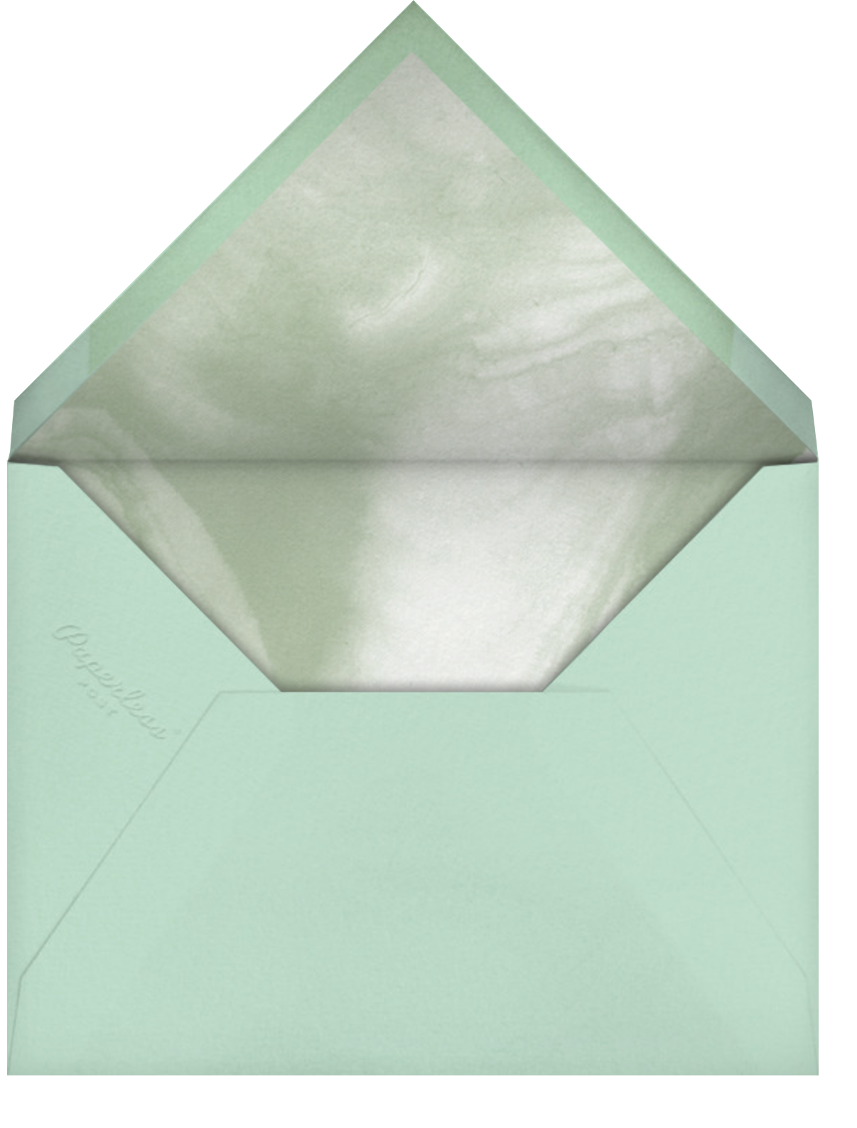 Fresh Leaves - Mint - Paperless Post - Photo  - envelope back