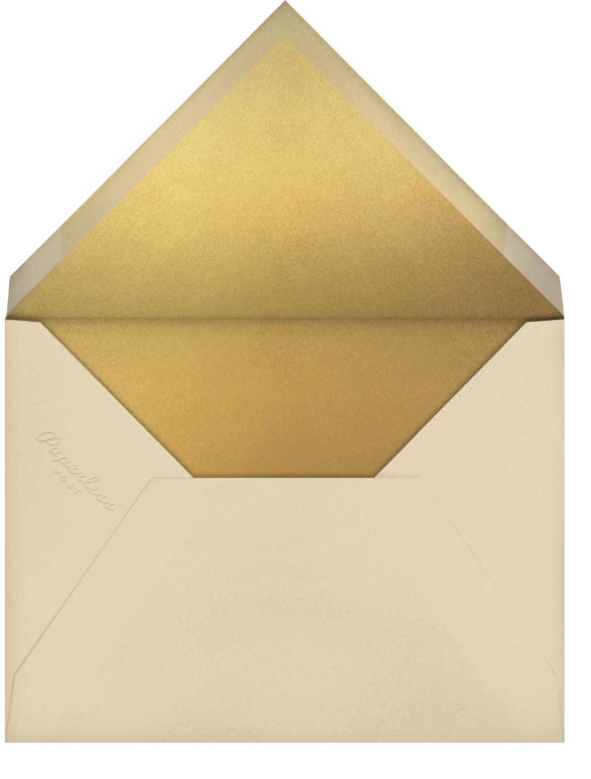 Fresh Leaves - Gold - Paperless Post - Photo  - envelope back