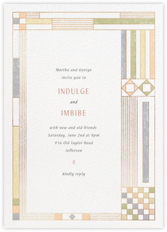Deco Asymmetry - Pastel - Paperless Post - Invitations