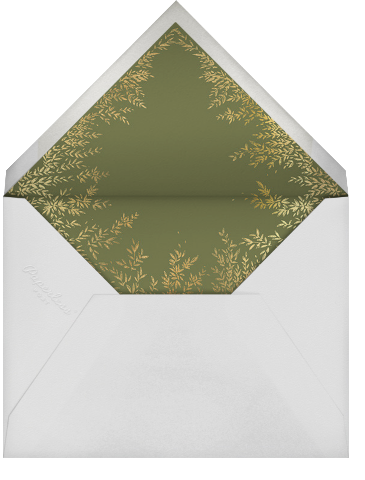 Leaves of Gold  - Paperless Post - Engagement party - envelope back