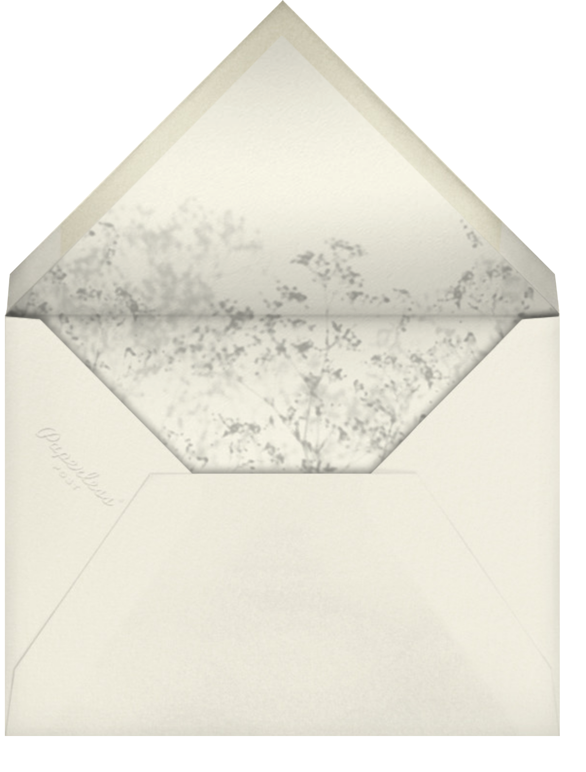 Gentle Shadow (Invitation) - Paperless Post - All - envelope back