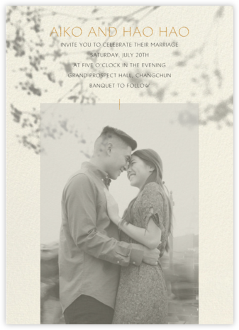 Gentle Shadow (Invitation) - Paperless Post - Wedding Invitations