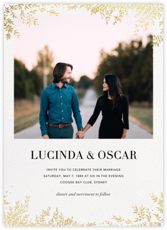 Leaves of Gold (Invitation) - Paperless Post - Online Wedding Invitations