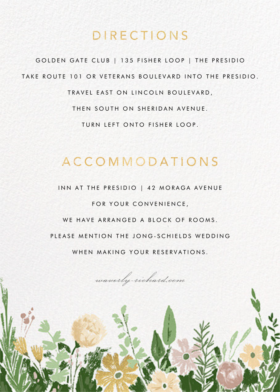 Dripping Floral (Invitation) - Moss - Paperless Post - All - insert front