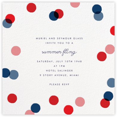 Carnaby - Red/Blue - Paperless Post - Summer Party Invitations