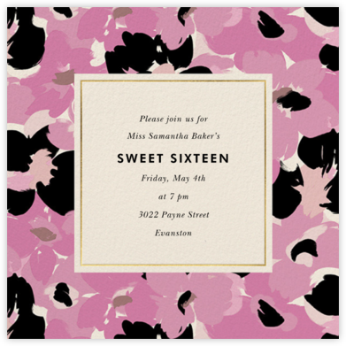 Flower Patch - Mauve - kate spade new york - Sweet 16 Invitations