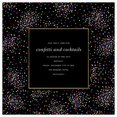 Confetti Clusters - kate spade new york - Adult Birthday Invitations
