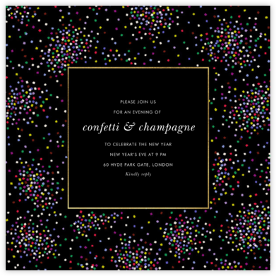 Confetti Clusters - kate spade new york - New Year's Eve Invitations