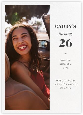 Split Tall - Paperless Post - Adult Birthday Invitations