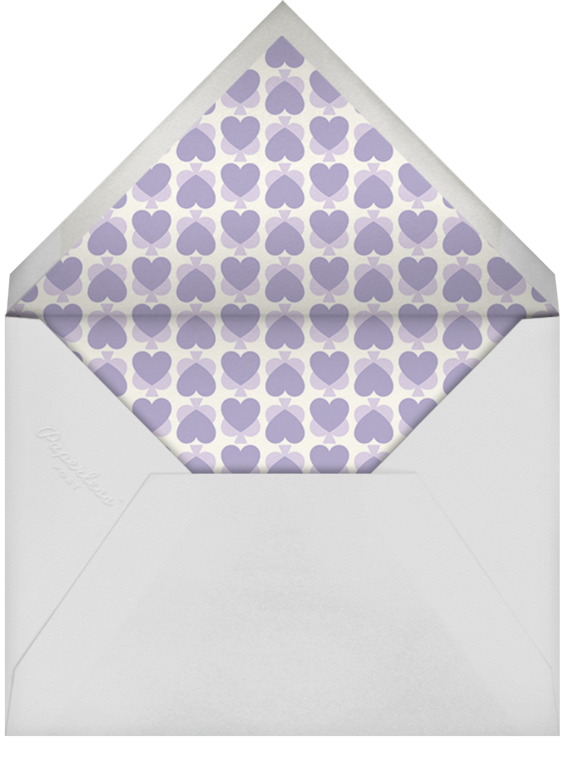 Hearts Of Mine - Lilac - kate spade new york - Engagement party - envelope back
