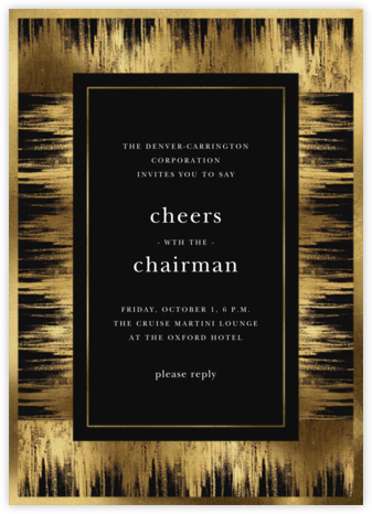 Brushed Gold - Oscar de la Renta - Business event invitations
