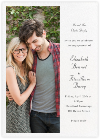 Split Tall - Paperless Post - Engagement party invitations
