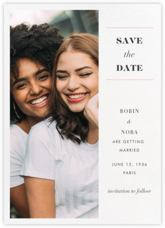 Split Tall (Save the Date) - Paperless Post - Save the dates