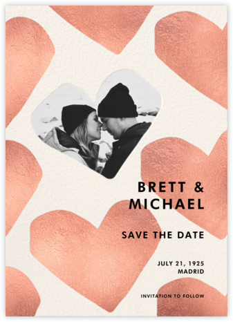 Full Heart - White - kate spade new york - Save the dates