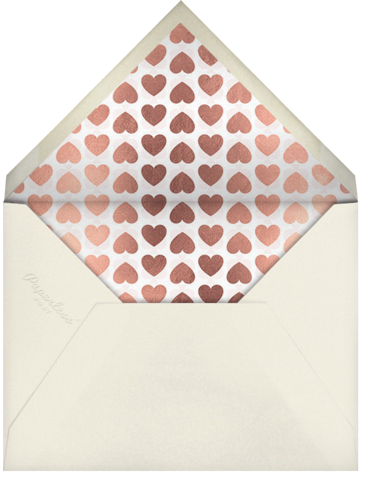 Full Heart - White - kate spade new york - Valentine's Day - envelope back