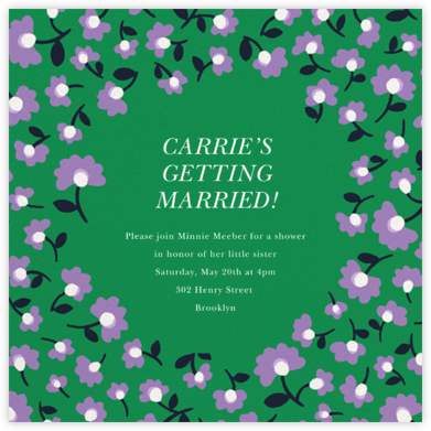 Mini Flowers - Emerald - kate spade new york - Bridal shower invitations