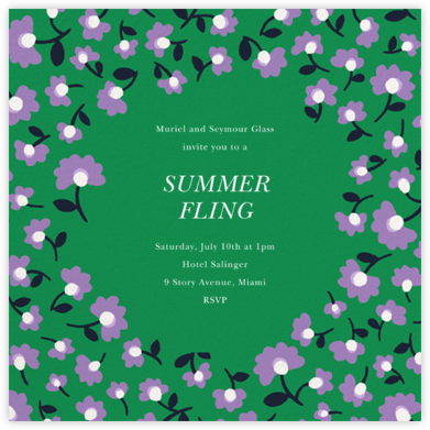 Mini Flowers - Emerald - kate spade new york - Summer Party Invitations