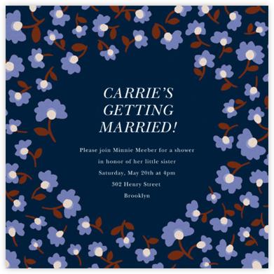 Mini Flowers - Navy - kate spade new york - Bridal shower invitations