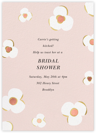 Three Petals - Meringue - kate spade new york - Kate Spade invitations, save the dates, and cards