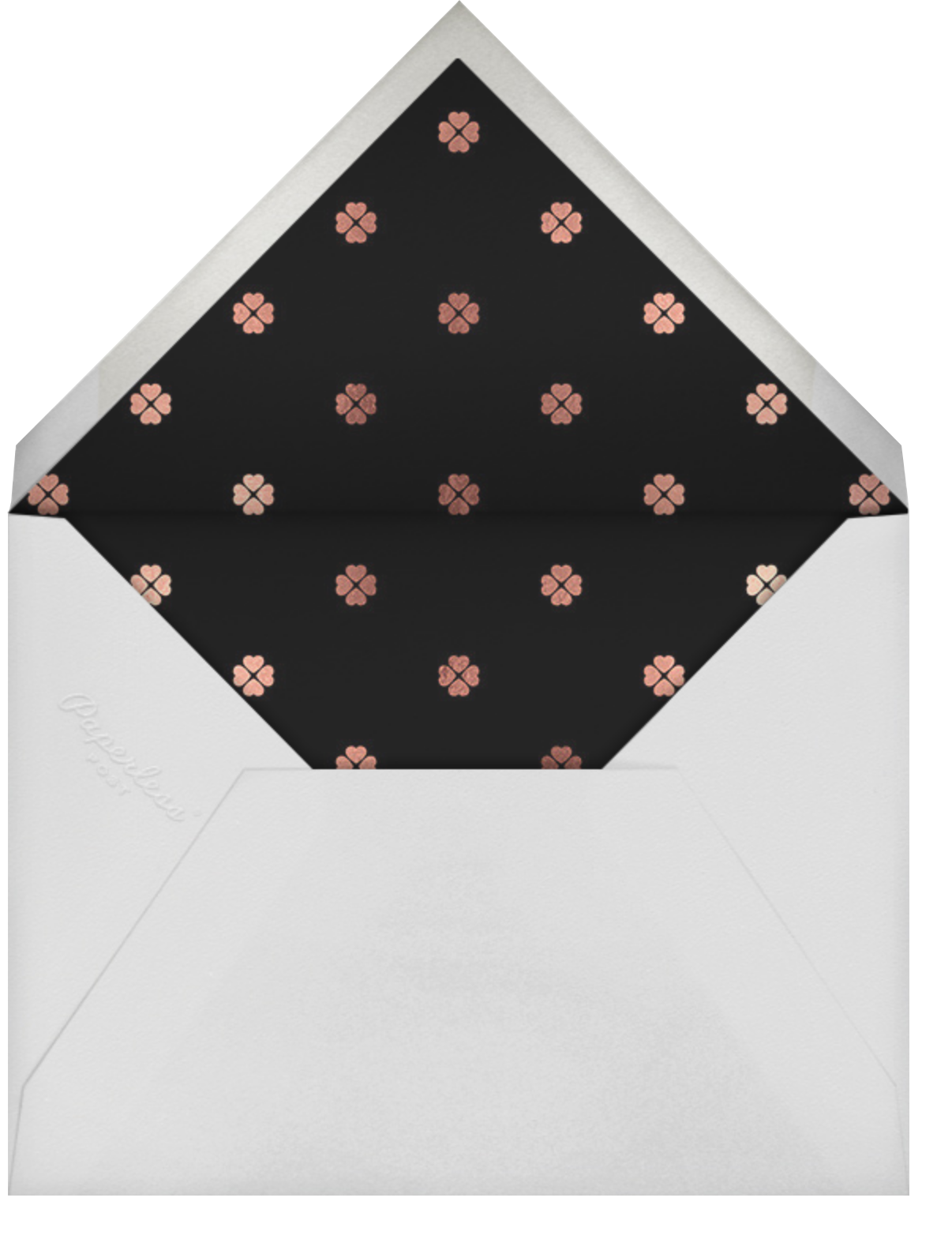 Three Petals - Meringue - kate spade new york - Baby shower - envelope back