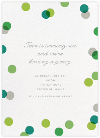 Carnaby (Tall) - Green - Paperless Post - Birthday invitations