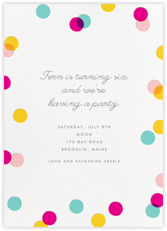 Carnaby (Tall) - Multi - Paperless Post - Kids' Birthday Invitations