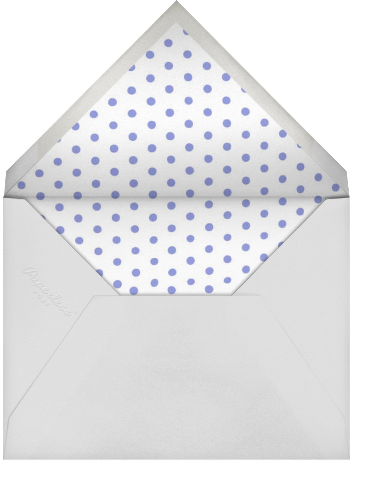 Carnaby (Tall) - Purple - Paperless Post - Envelope