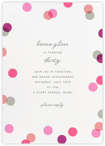 Carnaby (Tall) - Pink - Paperless Post - Invitations