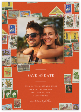 Stamped - Flame - Oscar de la Renta - Save the dates