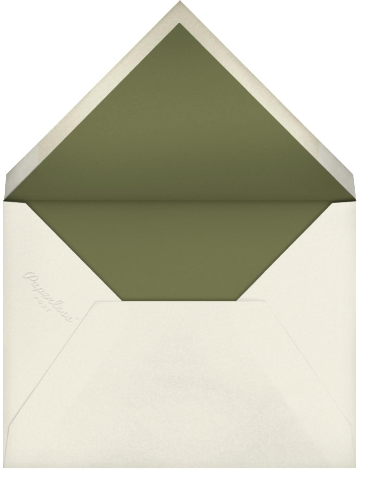 Stamped - Flame - Oscar de la Renta - Farewell party - envelope back