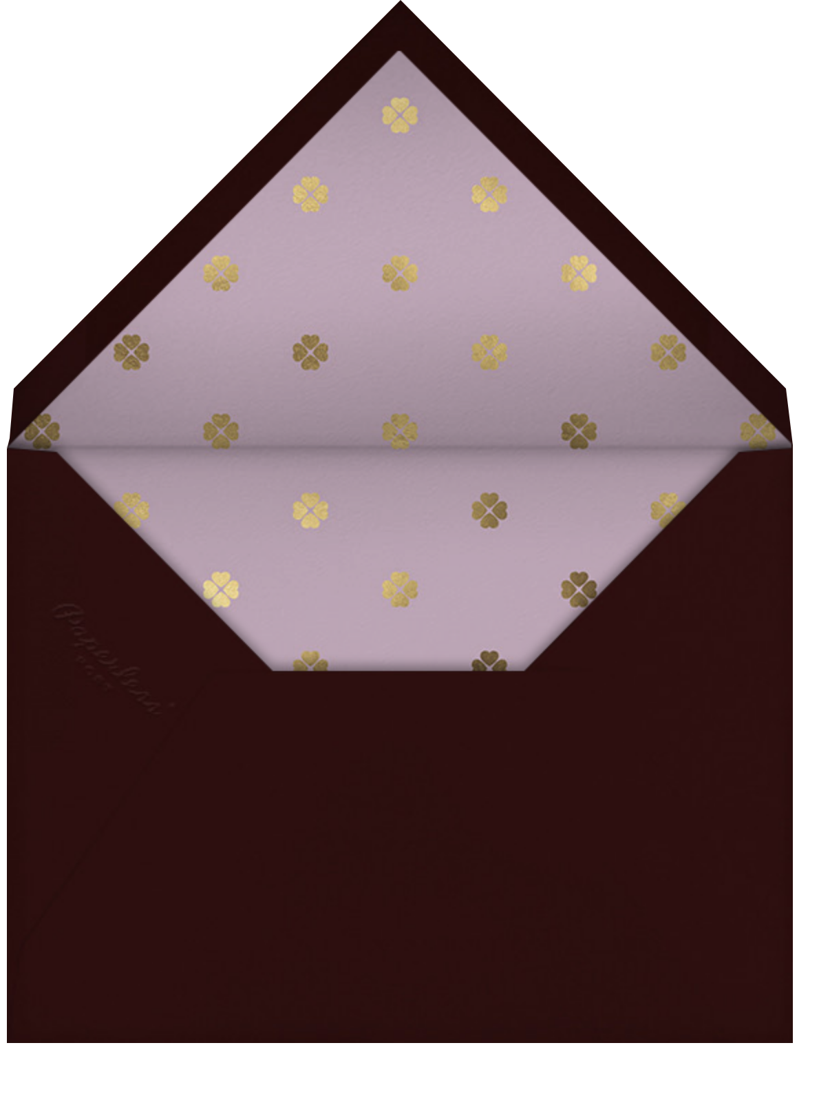 Heart's Desire - Lilac - kate spade new york - Mother's Day - envelope back