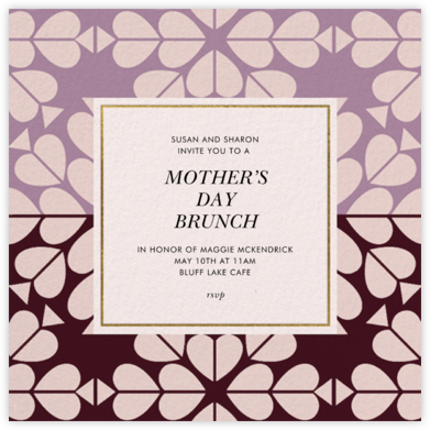 Heart's Desire - Lilac - kate spade new york - Online Mother's Day invitations