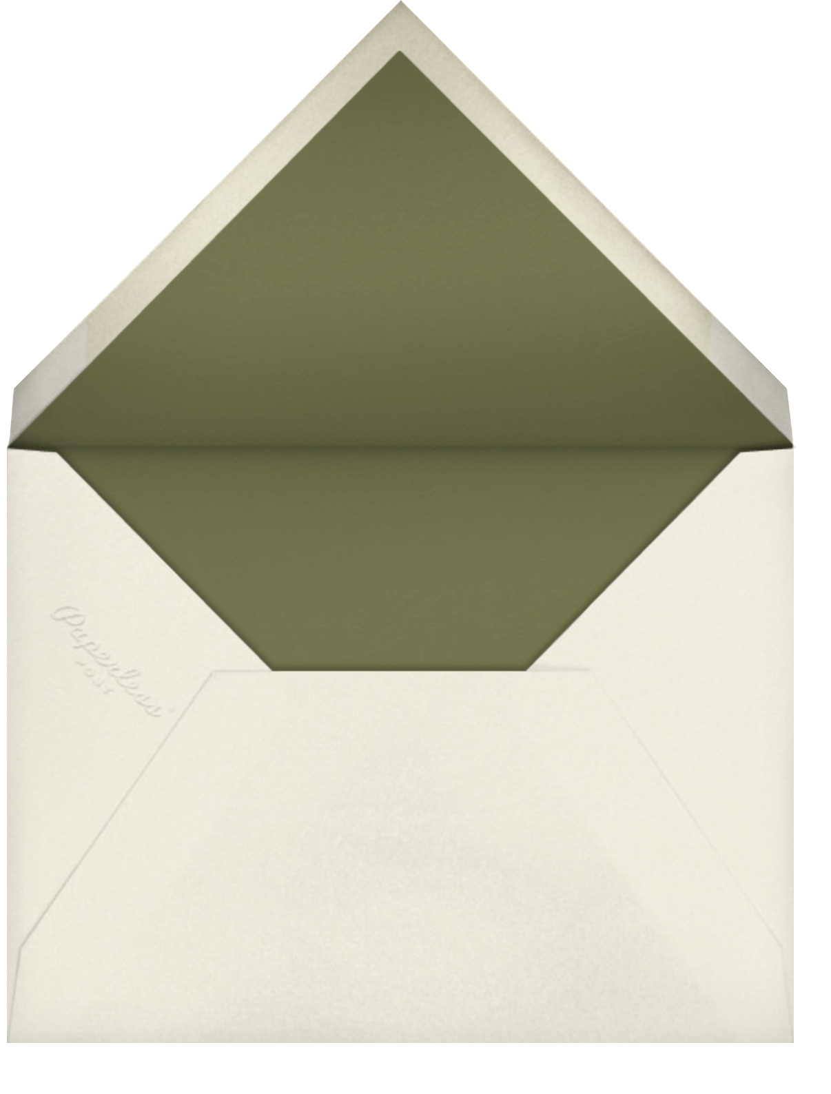 Stamped - Cream - Oscar de la Renta - Envelope