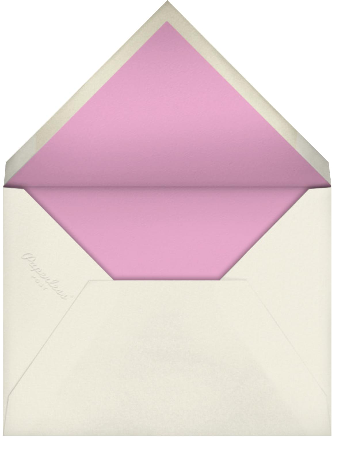 Floral Study - Oscar de la Renta - Dinner party - envelope back